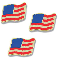Photoetch USA miniature flag 1/2 inch point to point available i two versions, Brass $ 0.24 (P) and 14K Gold $ 0.36 (P)
